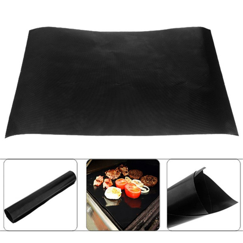 SEASENXI 1pc Non-stick BBQ Grill Mat Barbecue Grill Sheet Cooking Baking Liners for Microwave Oven Barbecue Gril Accessories
