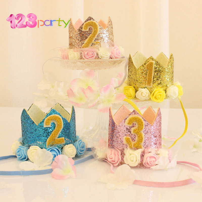 Detail Feedback Questions About Happy First Birthday Party Hats Decor Cap One Hat Princess Crown 1st 2nd 3rd Year Old Number Baby Kids Hair