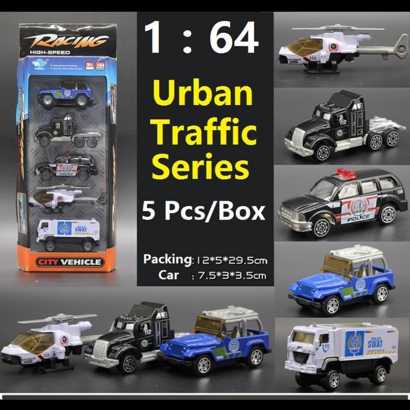 The Best Gift 1:64 DIY Alloy Urban Traffic Series Truck/Cars/Airplane/Helicopter model simulation model Educational toys