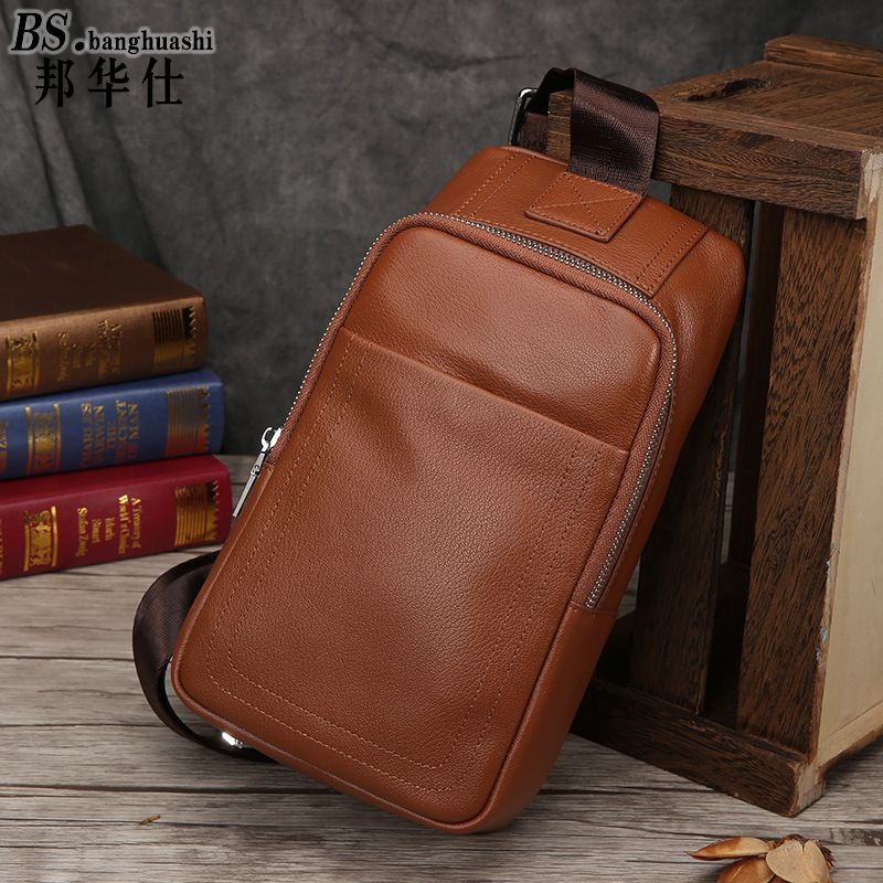 2016 Hot Men's Leather Shoulder Bag Casual Fashion Business Trends Men's and Women's General Messenger Bag Coffee Chest HandBag cloud computing trends and performance issues