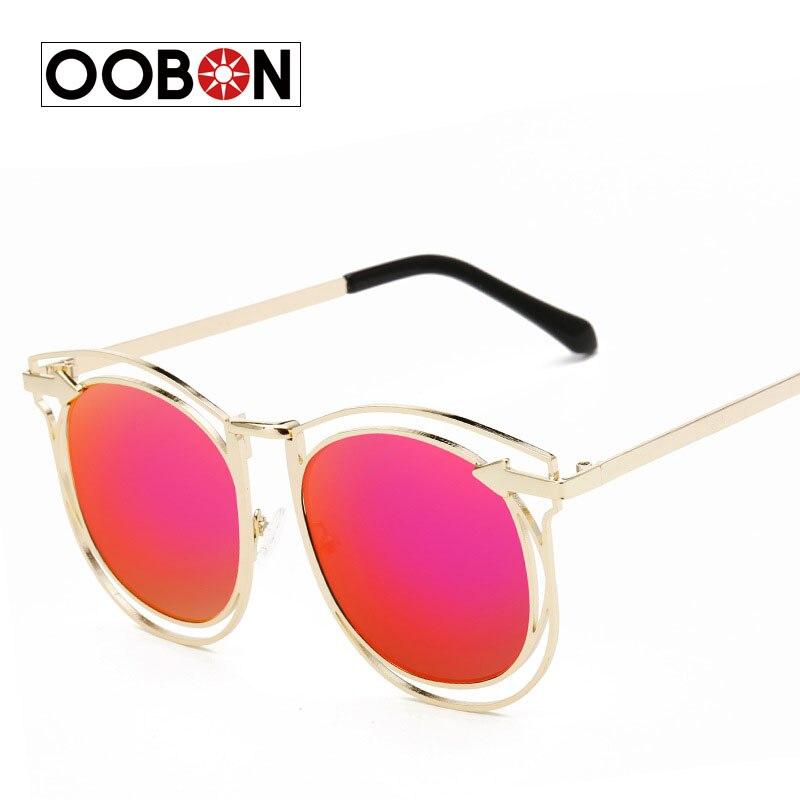 caa555e936 2017 new mujeres de la marca de gafas de sol redondas de hollywood ...