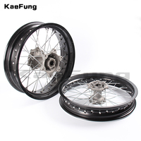 front 3.50x17 inch rear 4.25x17 inch Spoked Motorcycle Wheels Rims Set For EXC EXC E SX SX F XCW 200 250 300 350 450 2003 2018