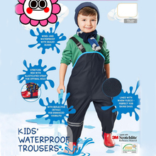 Boys and girls' overalls, windproof and rainproof pants, skiing, tourism, mountain climbing, cycling,