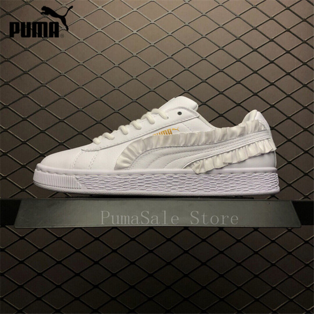 638ada2ab6d5 Puma Basket Classic Frill Womens Sneakers White Color Size Rihanna Women s  Shoes New Arrival Lace Up LightWeight Shoes 35.5-39