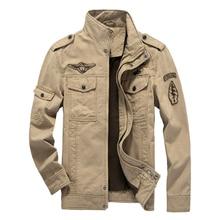 Высокое Качество Весна Осень Куртка Мужчин Случайные Мужские Куртки Пальто Плюс Размер M ~ 6XL (Азиатский Размер)