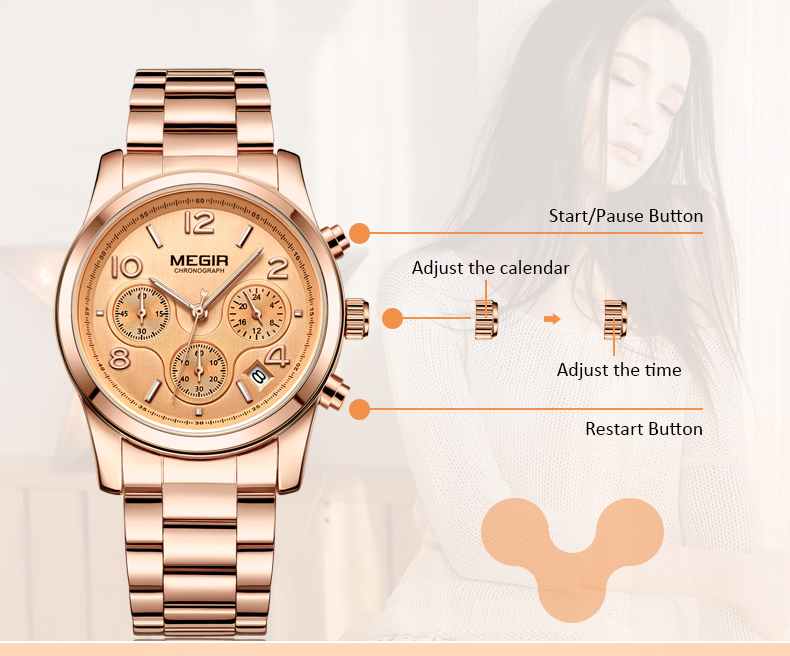 MEGIR Fashion Women Watches