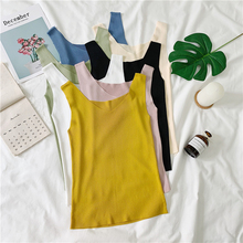 2019 Summer thin ice silk Sexy V Neck Tank Tops Women Sleeveless Knitted Vest Female Elasticity Sweater New Solid Bottoming Top summer sleeveless women tank top high elasticity knitted ice silk top fashion ribbed knitwear sweater vest cozy female tee shirt