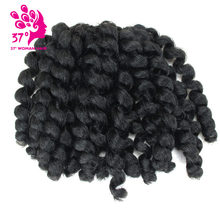 8 inch Ombre Jumpy Wand Curl Crochet Braids 20 Roots Jamaican Bounce Synthetic Crochet Hair Extension for Black Women(China)