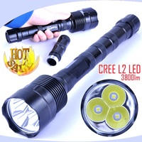 High Power CREE XM L2 LED Flashlight 3800LM Led Torch Waterproof Torchs Lamp Lighting Tactical Flashlight