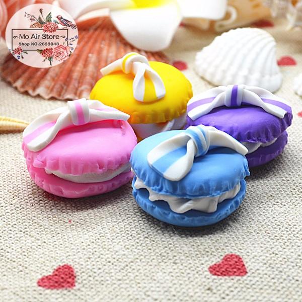 102050pcs Cream bread Resin Flatback Cabochon imitation food Art Supply Decoration Charm Craft 20mm