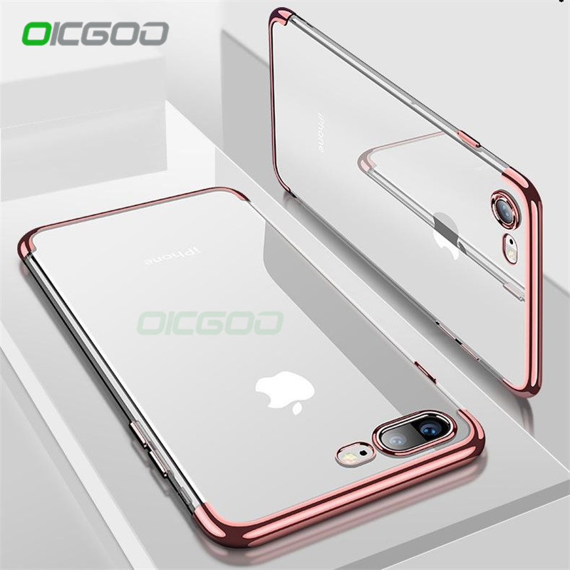 OICGOO Silicon Clear Soft Case For iPhone 6 6s 7 Plus 8 Ultra-Thin Transparent Cover Cas ...