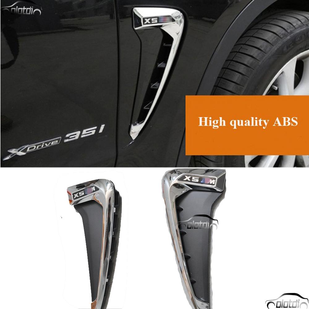 Car Styling Air Flow Fender ABS Side Wing Intake Vent Covers For BMW X5 F15 F16 2014-2016 ob 515 universal air flow vent hood covers for car silver pair