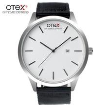 Ot03 моды минималистский Harajuku мужчина пара Часы студенток корейский Повседневное ретро кожаный ремень кварцевые наручные часы