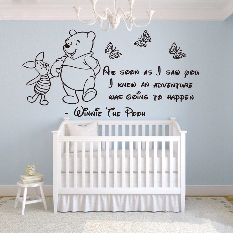 Winnie The Pooh Wall Stickers Baby Wall Stickers Home Decoration