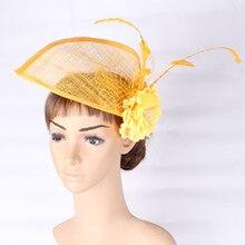 2017 New style party silk flower hats fascinator wedding DIY hair accessories occasion DERBY DANCE hat