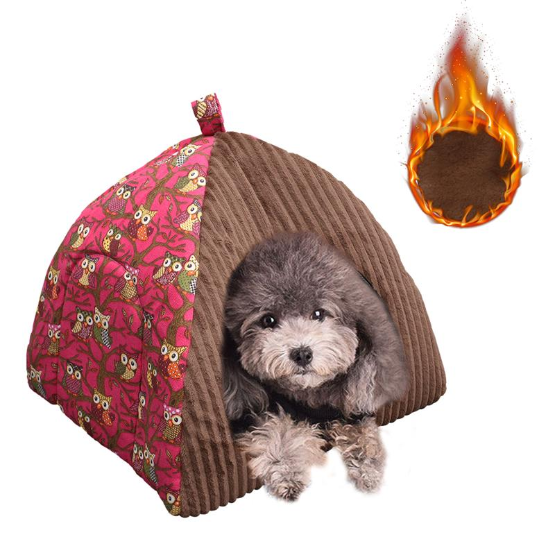 1Pc Dog Bed Plush Household Yurt Shaped Cosy Pet Bed Mat Cushion For Pets Sleeping Indoor Dogs Cats Dog Bed Pet Supplies image