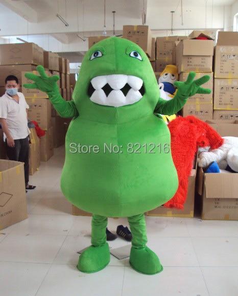 29edae2ac Disfraz de Mascota de germen verde traje de Mascota de bacterias verdes  traje de Mascota de Virus ...