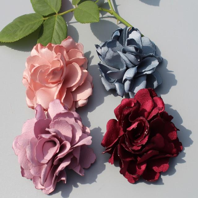 24ps Burned Satin Flower Handmade Flower Hair Flowers Wedding Flower