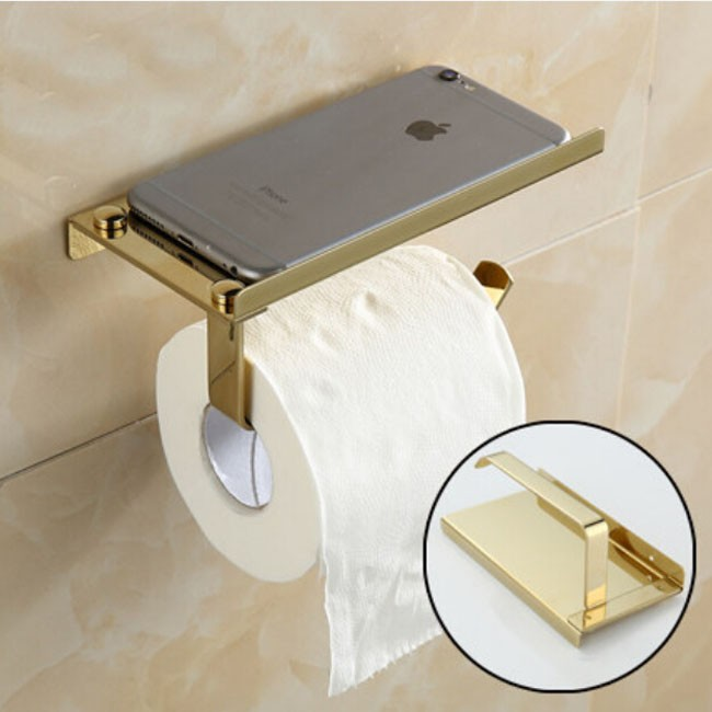 Beelee Free Shipping Durable Bathroom Accessories Golden Color Toilet Paper Rack Tissue Holder Roll Paper Holder luxury golden color toilet paper holder wall mounted roll toilet paper rack with cover bathroom accessories free shipping 3308