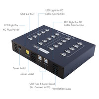 20 port powered usb hub, internal usb 2.0 cell phone charging box hub