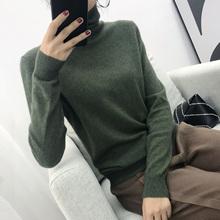 купить 2018 Cashmere Sweater Women Turtleneck Women's Knitted Turtleneck Winter Cashmere Sweater For Women Warm Sweaters Female по цене 775.06 рублей