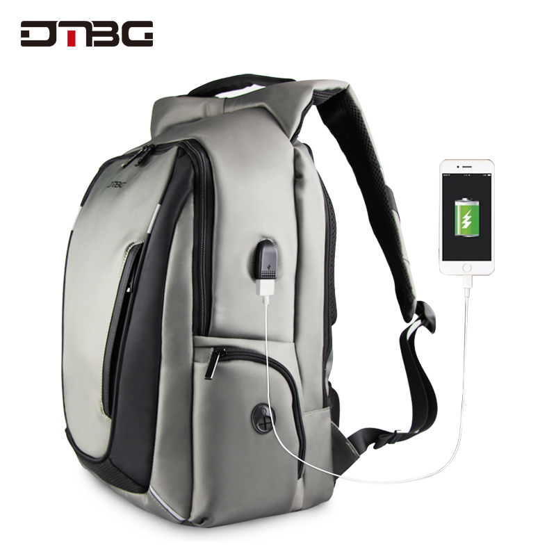 DTBG Fashion Laptop Backpack Men High Quality Patchwork Smart Back Pack with USB Charging Port Anti Theft Plecak Sac Rucksac dtbg canvas backpack for 17 3 inch laptop smart travel rucksack with usb charging port anti theft plecak bagpack mochilas sac page 5
