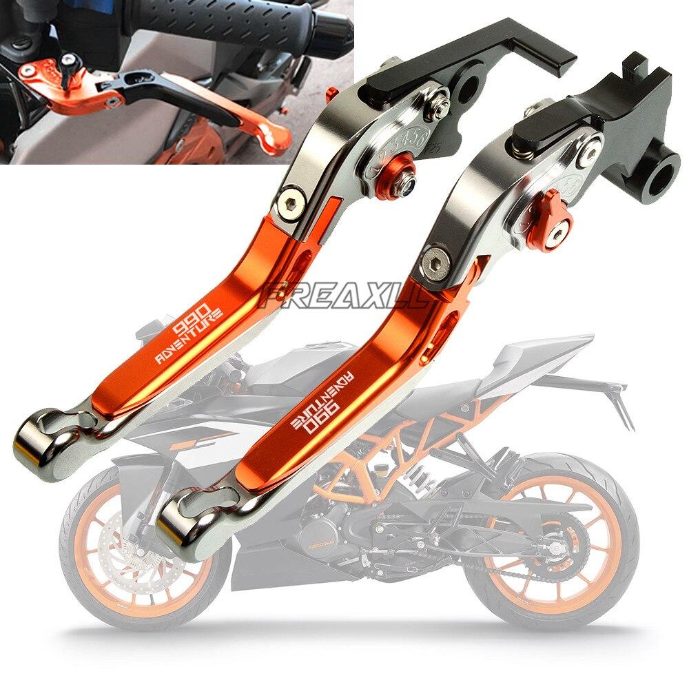 Pour KTM 990 Adventure 2009 CNC aluminium moto accessoires moto frein embrayage leviers pliable extensible réglable