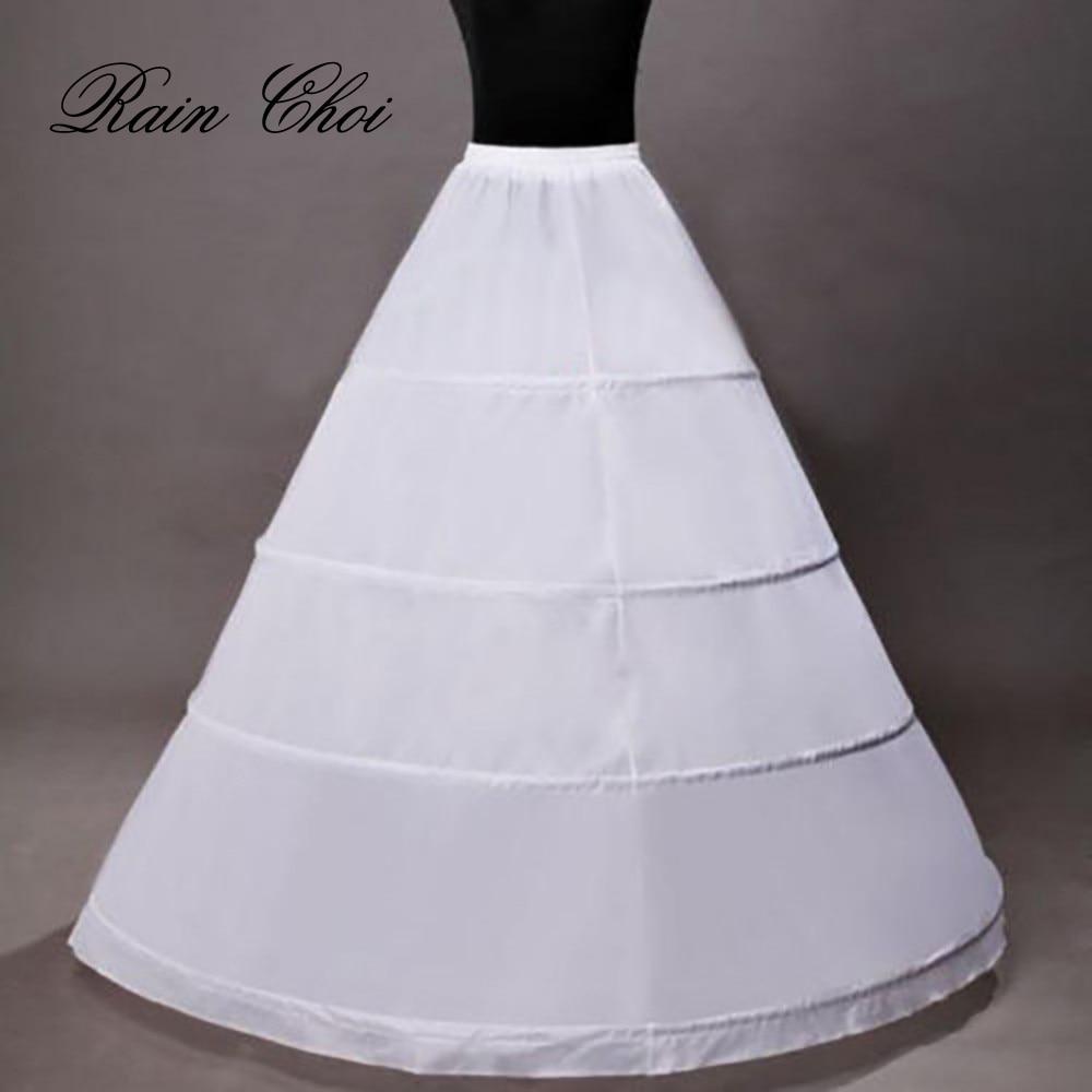 Hot Sale 4 Hoops Ball Gown Bryllup Tilbehør Slips Crinoline Petticoats For Wedding Dress Underskirt