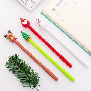 Image 3 - 40 adet noel jel sevimli noel baba kalem yazma okul ofis yılbaşı hediyeleri sevimli kırtasiye noel yenilik jel kalemler