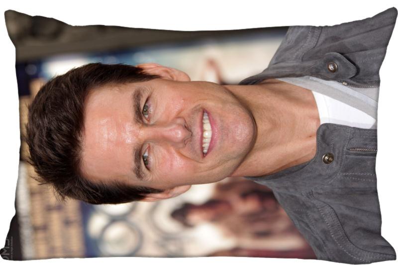 Custom Pillowcase Tom Cruise Rectangle Zipper Pillow Throw Pillow Case Cover 45x35cm(One Side) Printed