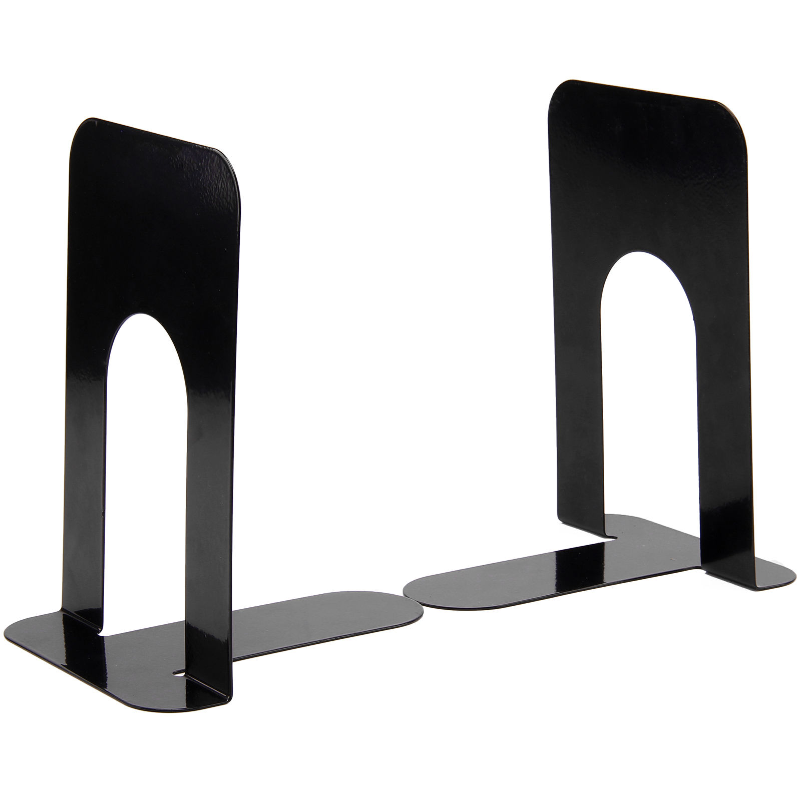 4 Pairs 8 Cheap Durable Heavy Duty Metal Book End Shelf Bookend Holder Office School Supplies Stationery Student Good Helper deli heavy duty hole punch office school supplies stationery 0150