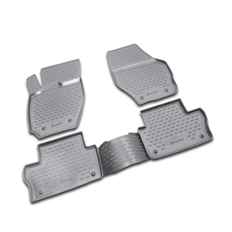 Mats in the salon For VOLVO XC60 2007->, 4 PCs (polyurethane) mats in the salon for volvo xc70 2007 4 pcs polyurethane