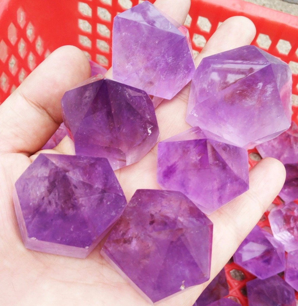 1kg Natural Amethyst Quartz Crystal Single End Terminated Wand Point Healing