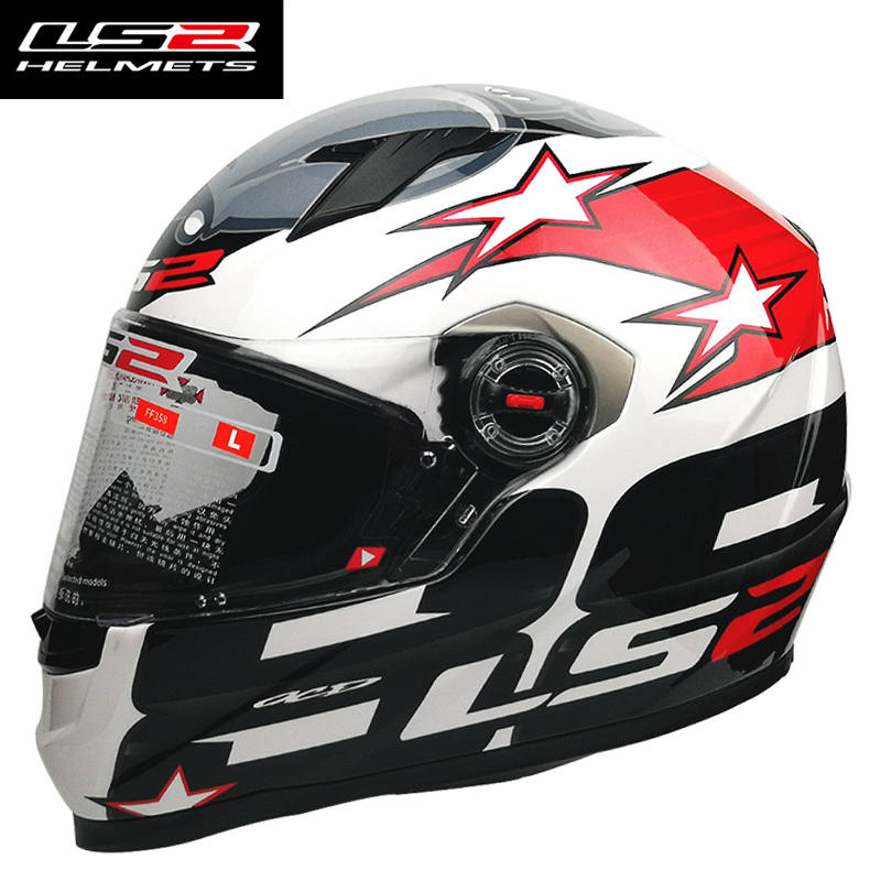 LS2 FF358 samurai Motorcycle helmet full face racing moto helmet man women abs material can add black visor LS2 helmets ls2 helmet
