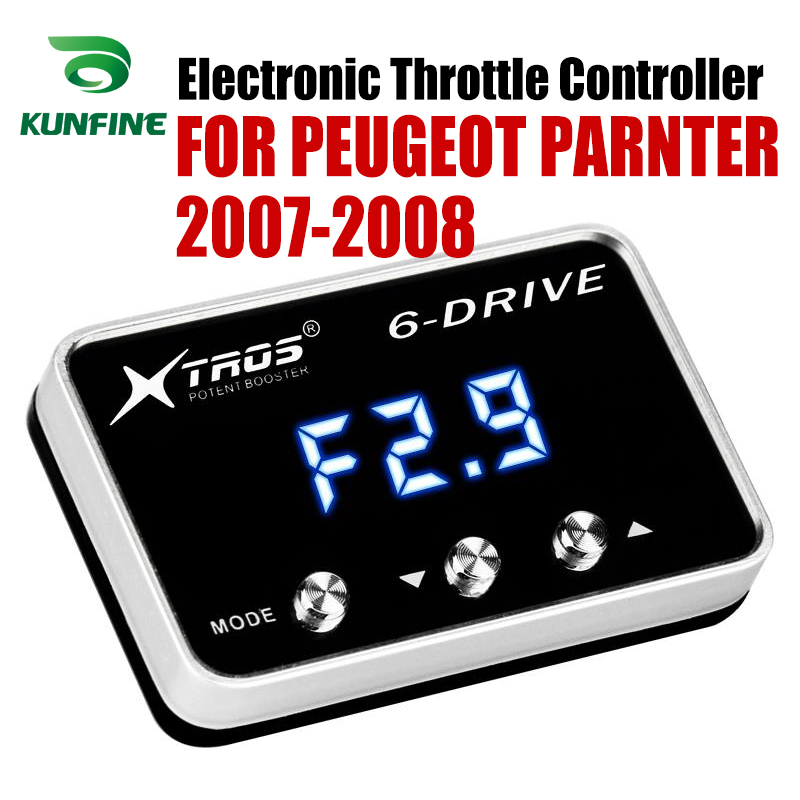 Car Electronic Throttle Controller Racing Accelerator Potent Booster For PEUGEOT PARNTER 2007-2008  Tuning Parts AccessoryCar Electronic Throttle Controller Racing Accelerator Potent Booster For PEUGEOT PARNTER 2007-2008  Tuning Parts Accessory