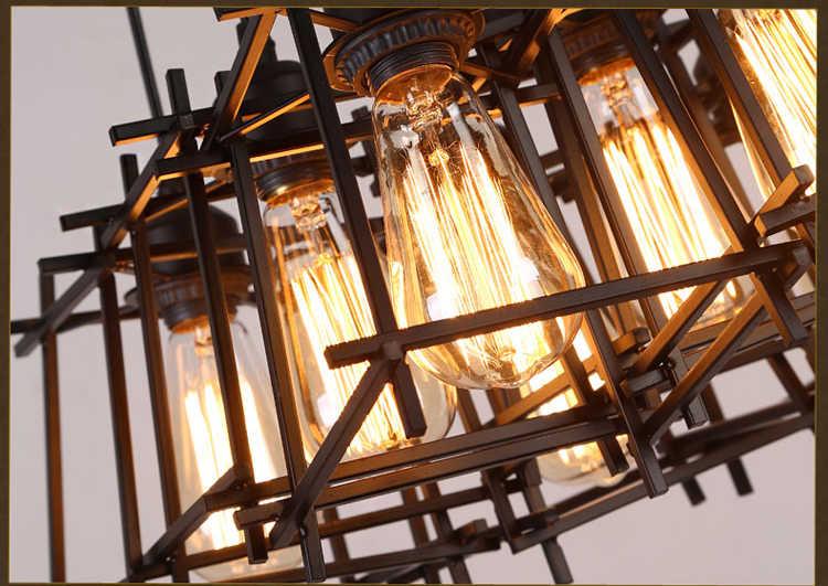 E27American Лофт Винтаж подвеска подсветка индивидуальность Настенные светильники из кованого железа Edison нордическая лампа промышленный клетка крепление для лампы