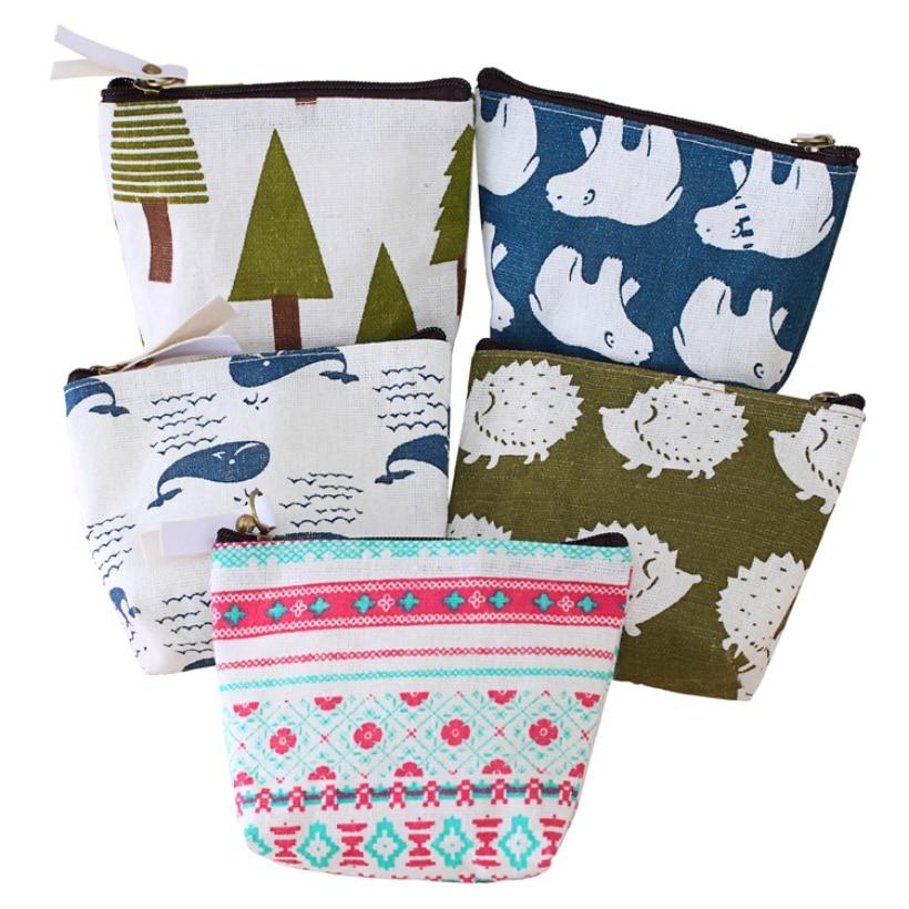 Women Cartoon coin purse wallet animal Style small canvas bags Flamingo Money Key holders Pouch Zipper Bag