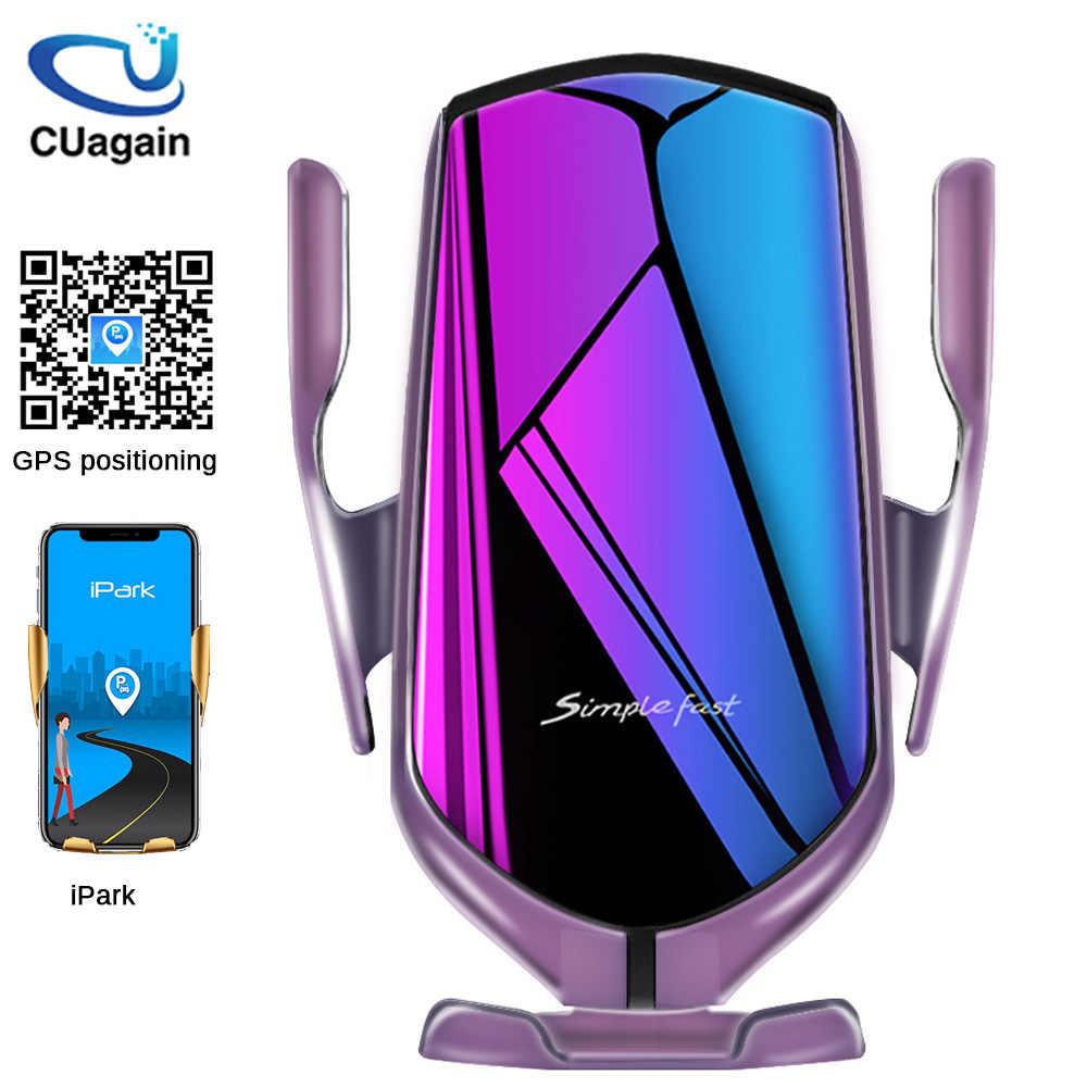 10 W Kablosuz araba şarjı S5 Otomatik Sıkma Hızlı Şarj telefon tutucu yuvası Araç için iPhone xr Huawei Samsung Akıllı Telefon