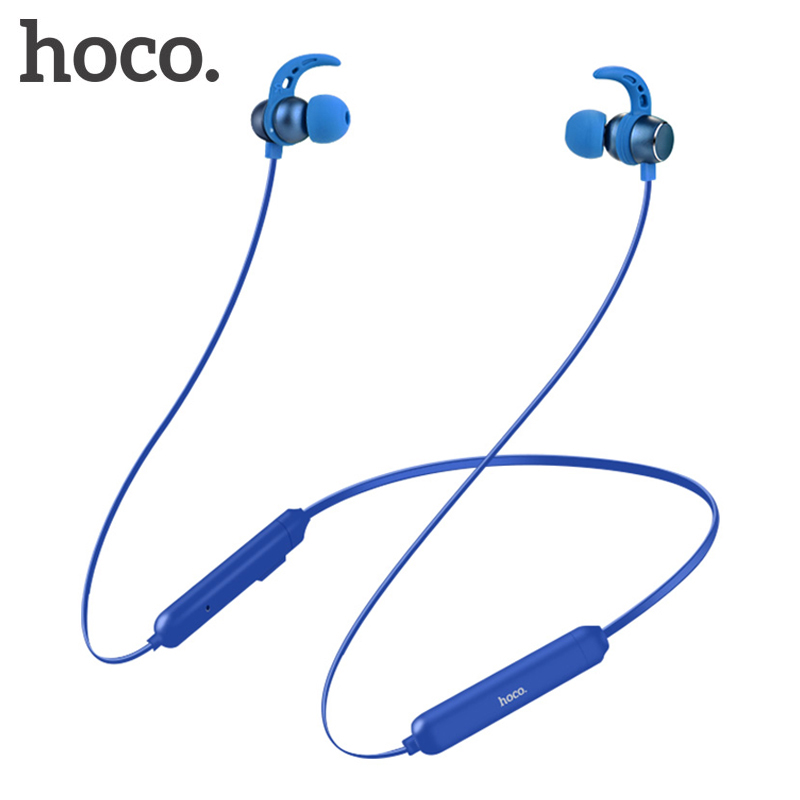 HOCO Sport Bluetooth Earphone IPX5 waterproof Wireless Headphones With Microphone Stereo surround Bass for iOS Android Headset bluetooth headphones stereo sport headset support tf card 8g wireless earphone microphone neckband headset for iphone 7 android