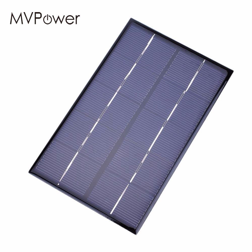 MVpower 1.9W 5V Polycrystalline Solar Panels Small Diy Solar Power 3.6V Battery Charger Solar Cell 142*88*3MM Outdoor Power Gift