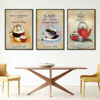 Nordic Poster Vintage Moderne Minimalistischen Kaffee Dessert Leinwand malerei Abstrakte Dekoration Küche Wand Bilder Unframed