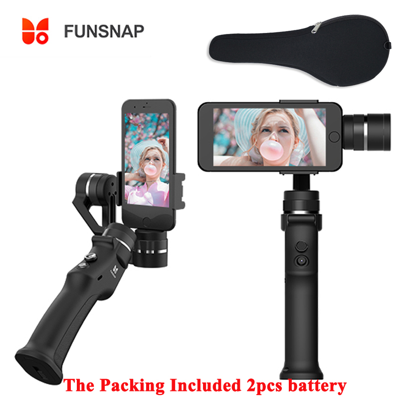 FUNSNAP Capture 3-Axis Handheld Gimbal Stabilizer Smartphone for iPhone X 6 7 8 Plus Samsung Zhiyun Smooth 4 Action Camera#45FUNSNAP Capture 3-Axis Handheld Gimbal Stabilizer Smartphone for iPhone X 6 7 8 Plus Samsung Zhiyun Smooth 4 Action Camera#45