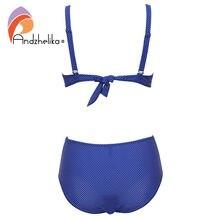 Plus Size High Waist Fold Swim Suits
