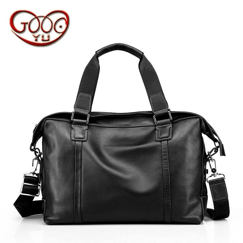 Genuine Leather Handmade Mens Casual Handbag Bundle Computer Headband Cowboy Large Capacity Business Briefcase