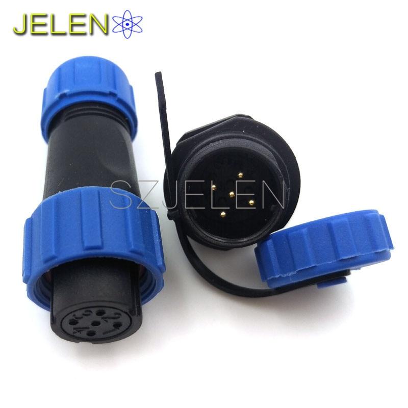 SP13, wasserdicht 5 poligen stecker steckdose, draht anschluss, LED ...