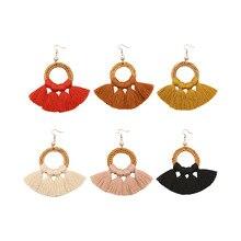 Rattan Earring Boho Fashion Women 2019 Geometric Bohemian Luxury Drop Tassel accessories Handmade