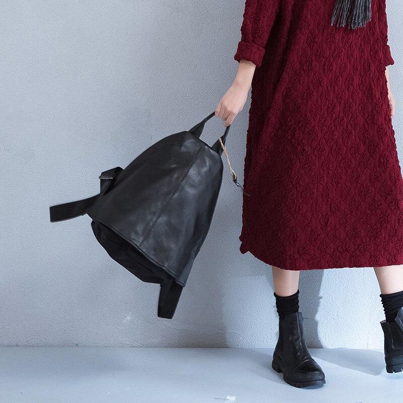 Free shipping black genuine leather male backpack Nylon dermis backpack male classic microfiber leather backpack