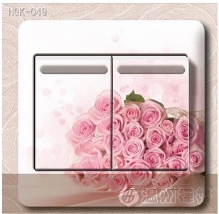 5pc/lot Fashion Rustic Flower Switch Stickers Switch Stickers Socket Paste Wholesale