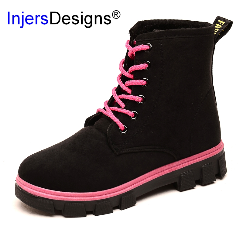2017 Women Martin Boots Winter Warm Shoes Botas Feminina Female Motorcycle Ankle Fashion Boots Women Botas Mujer e toy word boots women fashion autumn martin boots warm women shoes ankle boots for women winter botas mujer wedges ankle boots