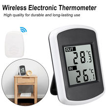 Wireless Hygrometer Weather Station Indoor Outdoor Temperature LCD Digital Thermometer Humidity Sensor Screen Temperature(China)